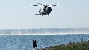 Redningsaktion ved Stillinge Strand – person omkommet under svømmetur